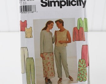 Easy Pants, Skirt, Vest and Jacket, Uncut Sewing Pattern, Simplicity 7970, Size 10-14