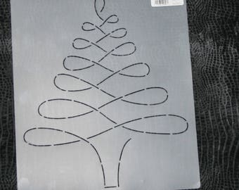 Quilt Stencil, Swirl Christmas Tree, Choice of Two Sizes, Winter, Christmas Quilting Template