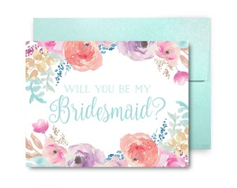 Bridesmaid Proposal Card, Will You Be My Bridesmaid Card, Bridesmaid Maid of Honor Gift, Matron of Honor, Brides Man, Flower Girl #CL198