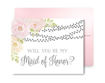 Will You Be My Bridesmaid Card, Bridesmaid Cards, Ask Bridesmaid, Bridesmaid Maid of Honor Gift, Matron of Honor, Flower Girl #CL163