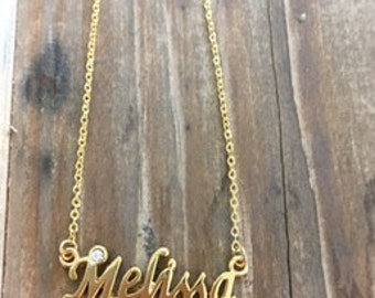 Melissa Necklace in Gold or Silver