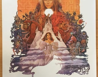 Wall Art, Movie Poster, Labyrinth David Bowie Poster 24 x 36