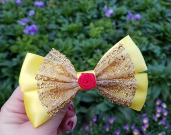 Beauty and the Beast Belle inspired bow