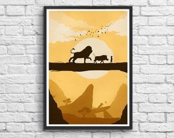 Art-Poster 50 x 70 cm for kids - The Lion King Fan-art