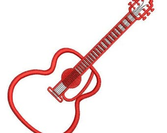 guitar embroidery design machine embroidery hoop 5x7