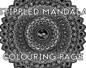 Stippled Mandala Colourin...