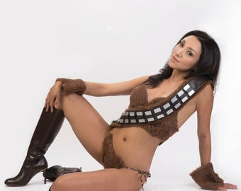 Sexy Chewie Women's Female Chewbacca  Cosplay Costume - Chewbacca Bikini with Chewbacca Bandolier