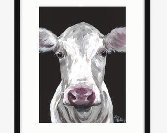 Cow art print from original canvas cow painting