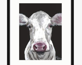 Cow art print, cow print, cow art from original cow painting, cow art, cow prints, cow decor, cute cow art