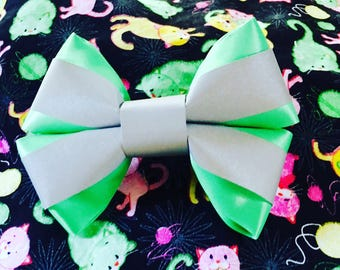 Reflective Hair Bow: promotes visibility in the dark for cyclists, pedestrians, children, bikers, festival goers, etc.!