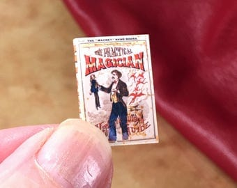 Practical, Magician, and Ventriloquist, Guide, Dollhouse, Miniature, Book, 1/12 scale, Shop, Magic, Show, theatre ,Vintage Styled