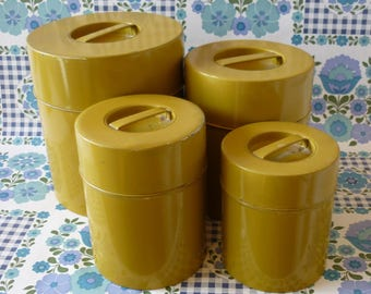 Set Of Four Tin Nesting Canisters