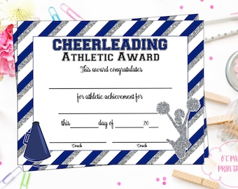 Editable cheerleader certificate instant download instant download cheerleading certificate cheerleading award cheerleading printable cheerleading achievement end yelopaper Image collections