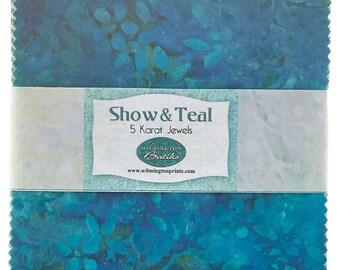 Show and Teal Batiks 5 Karat Jewels by Wilmington Batiks for Wilmington Batiks
