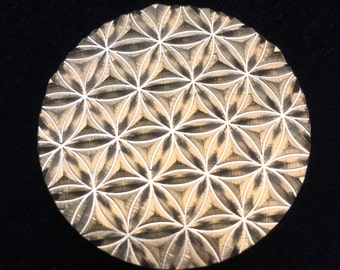 Mini Flower Of Life pattern brass glass blowing tool