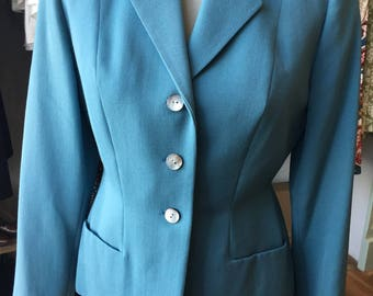 1940s pale blue fitted jacket