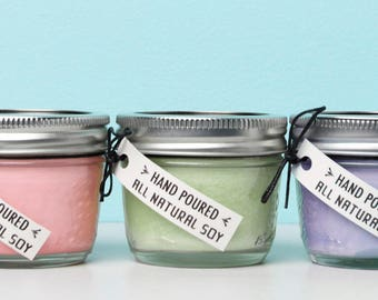 Set of 3, 4 oz. Aromatherapy Soy Candles **All Natural** Focus, Detox, Meditation