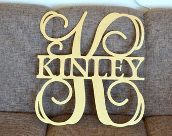 Wooden Monogram Wall Hanging wooden monogram | etsy