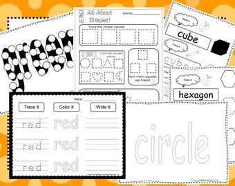 Colors and Shapes Curriculum Download. Preschool-Kindergarten. Worksheets and Activities in PDF files.