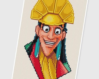 PDF Cross Stitch pattern - 0044.Emperor Kuzco (The Emperor's New Groove) - INSTANT DOWNLOAD