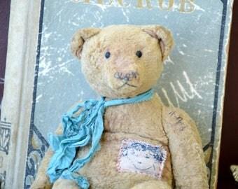 Artist Teddy Bear OOAK antique teddy bear vintage toy Plush Sawdust Soft sculpture Teddy Bear to order Сlassic teddy bear