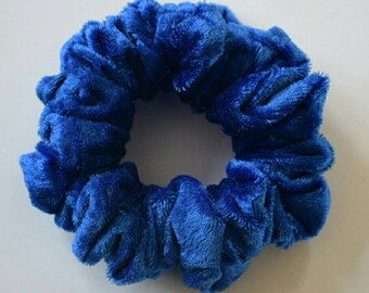 Bright Blue Crushed Velvet Scrunchie Hair Scrunchie