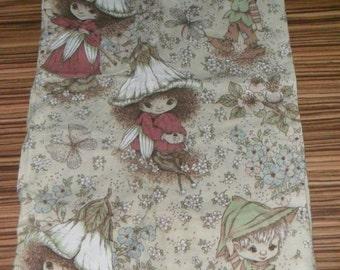 Rare Original Victoria Plum and Pixie Upholestry Fabric