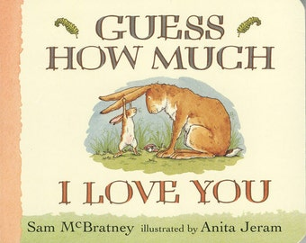 "Vintage Book Cover Print ""Guess How Much I Love You"" Children's Book - Nursery Decor - Classic Childrens Literature - Kids Room Art Print"