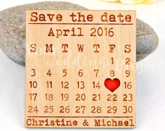 Calendar Save the Date Magnet, Custom Engraved Save the Date, Wood Save the Date, Rustic Save the Date, Wedding Favors, Wedding Invitations