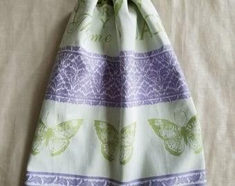 Crochet Kitchen Towel,Herb Butterfly Kitchen Towel,Green Kitchen,Cotton Kitchen Towel,Kitchen Towel,Wedding Gift,Crochet Gift,ready to ship