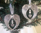 Memorial Angel Wing Hanging Christmas Decoration  Baby LossMiscarriage