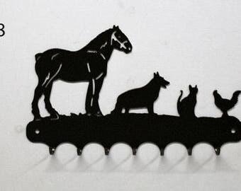 Hangs key pattern metal: animals