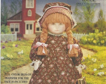 """Vogue Craft 8336 Sewing Pattern for Early American Doll and Outfit with Transfer for Face Moveable Arms and Legs 18"""" Tall"""