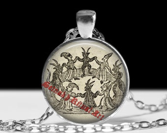 Occult, witchcraft, witches sabbath, demon, Satan, satanic pendant, amulet,  Gothic jewlery, demonic talisman #341