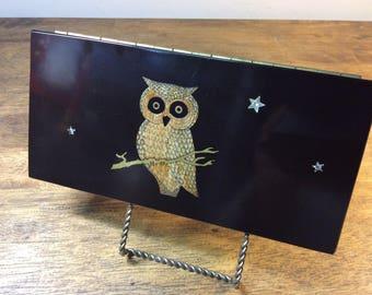 Couroc Trinket Box - Owl with Stars