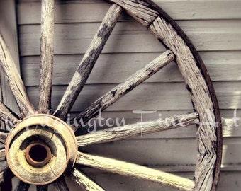Wagon Wheel Photo, rustic decor, country decor, wooden wheel photo, rural, farmhouse decor, rustic art, country decor, wheel photo, neutral