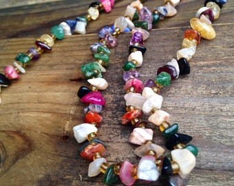 Beautiful Mixed Stoned Necklace