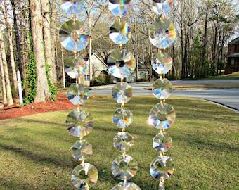 Clear Crystal Sun Disk Sun Catcher, Crystal Suncatcher, Wedding Gift,  Birthday Gift,  Yard Art, Garden Decor,  Window Art, SCSD31