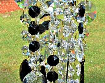 Crystal Wind Chime, Crystal Sun Catcher, Glass wind Chime, Garden Décor,  Gift for Her, Crystal Gift, House Warming Gift, WC 125