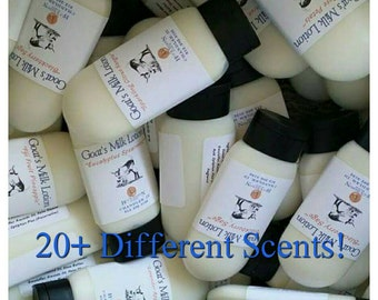 2oz Goat Milk Lotion, Hand Lotion, Body Lotion, Goat Milk Cream, 20+ different scents available!