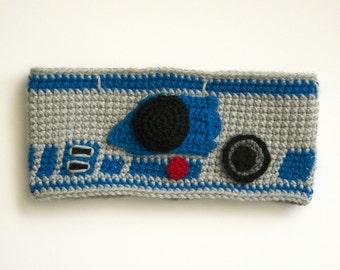 R2-D2 Star Wars Crochet Headband | R2-D2 Costume Hat