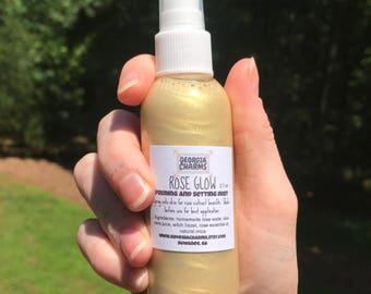 Rose Glow Pearl Priming and Setting Mist - Rose Water Facial Mist