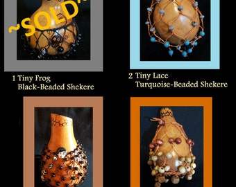 Mini-Shekeres Rattles Shakers Gourds Percussion Musical Instruments