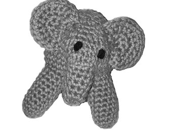 Amigurumi Stuffed Elephant Figurine