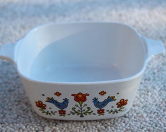 Corning Ware Pyrex Casserole Country Festival small vintage collectible