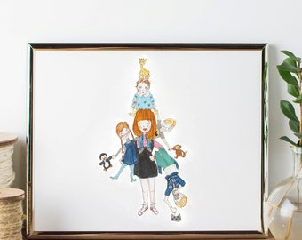 Custom illustration - FAMILY