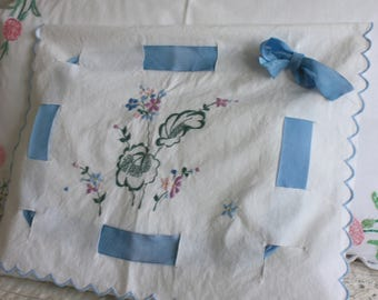 Vintage embroidered nightdress case