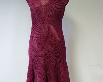 Exceptional cyclamen linen dress, L size.  Only one sample.