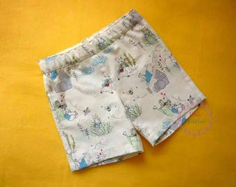 Peter Rabbit shorts - bunny summer shorts - boys outfit - girls clothing - cotton shorts - handmade outfit - 6m to 12yrs
