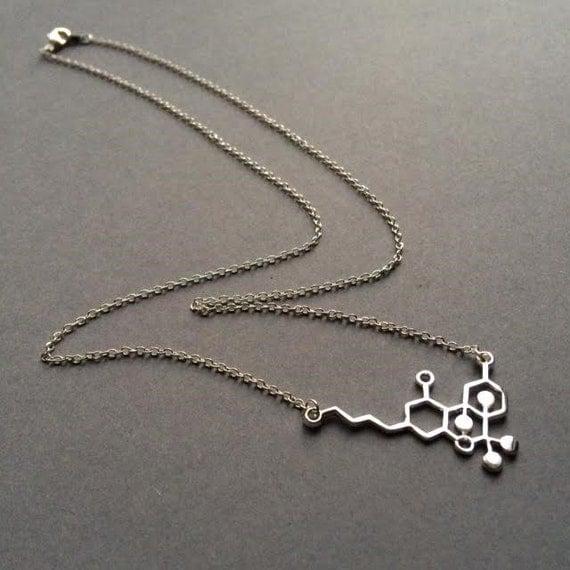 thc necklace molecule necklace necklace chemistry necklace